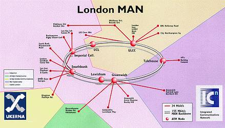 the london man metropolitan area network of superjanet the uk s high sd academic and research network